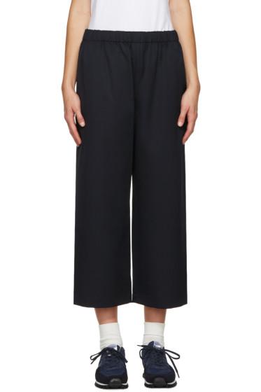 Comme des Garçons Comme des Garçons - Navy Wide-Leg Wool Trousers