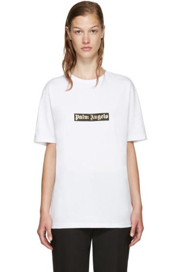 Palm Angels - White Logo T-Shirt