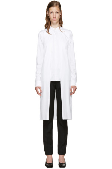 Rosetta Getty - White Poplin Split Front Shirt