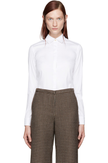 Rosetta Getty - White Cropped Shirt