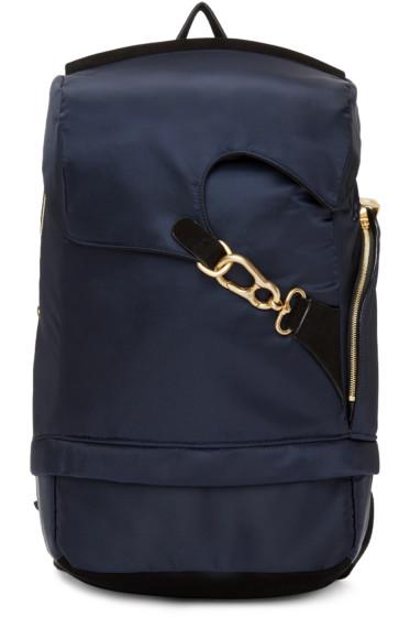 Wooyoungmi - Navy Buckle Backpack