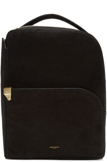 Wooyoungmi - Black Suede Backpack