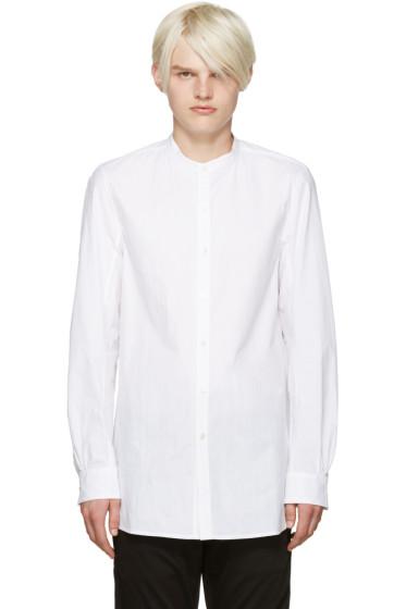 Attachment - White Band Collar Shirt