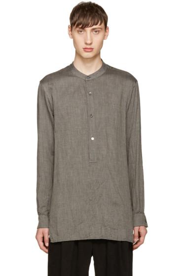 Attachment - Grey Twill Tunic Shirt