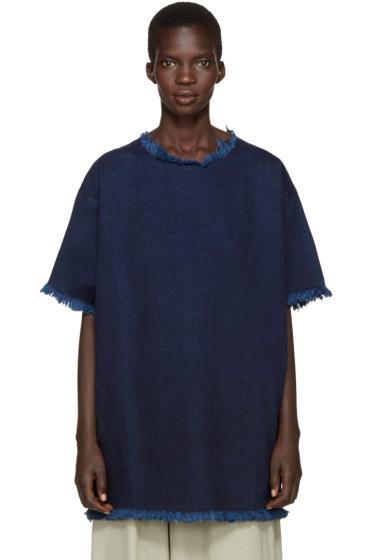Marques Almeida - Indigo Frayed Denim Dress