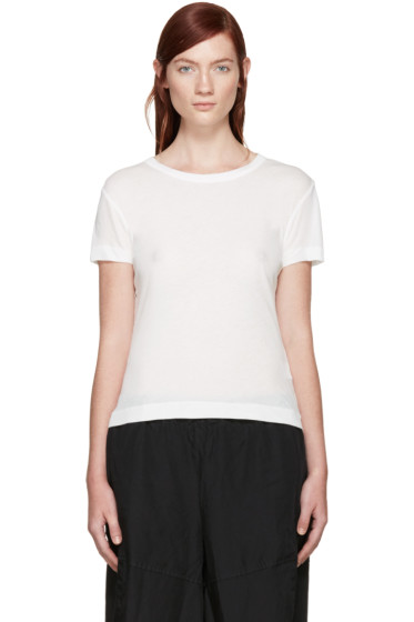 Y's - White Jersey T-Shirt