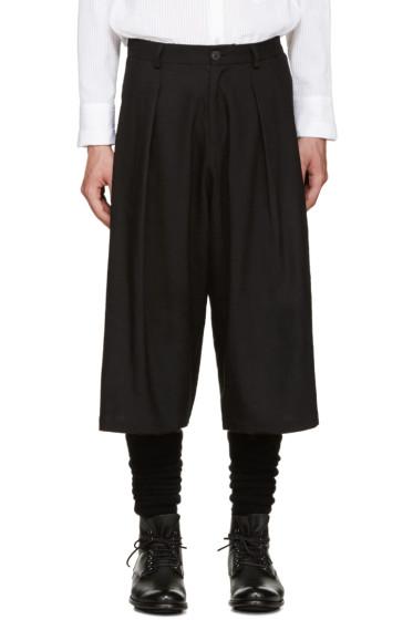 Isabel Benenato - Black Pleated Trousers