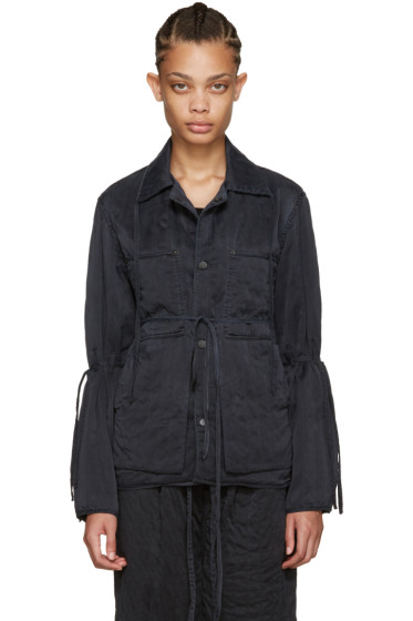 Craig Green - Black Silk Workwear Jacket
