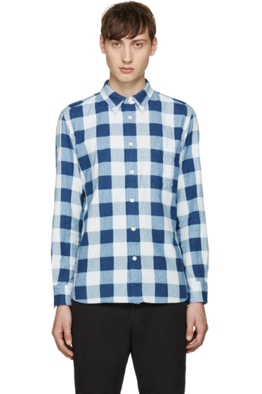 Blue Blue Japan - Indigo Flannel Check Shirt