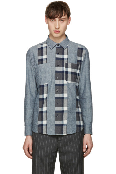 Blue Blue Japan - Navy Flannel Cutover Shirt
