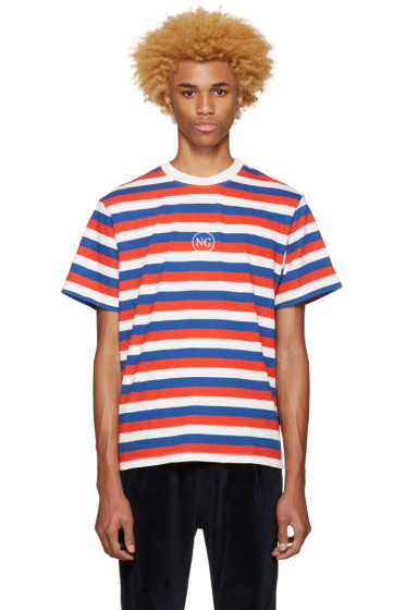 Noon Goons - Tricolor Striped Logo T-Shirt