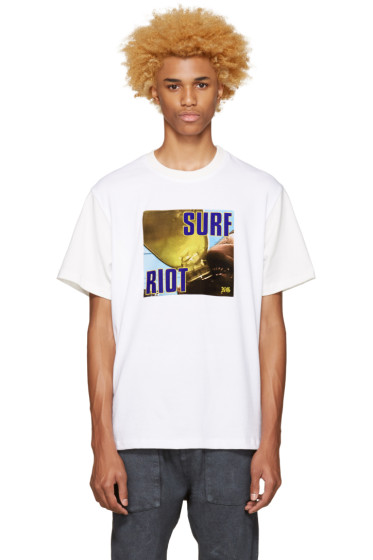 Noon Goons - SSENSE Exclusive White 'Surf Riot' T-Shirt