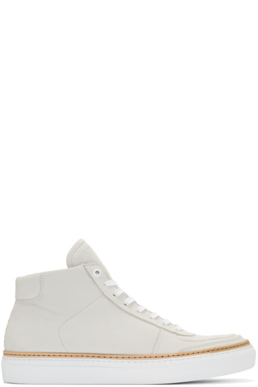 No.288 - Off-White Nubuck Howard High-Top Sneakers