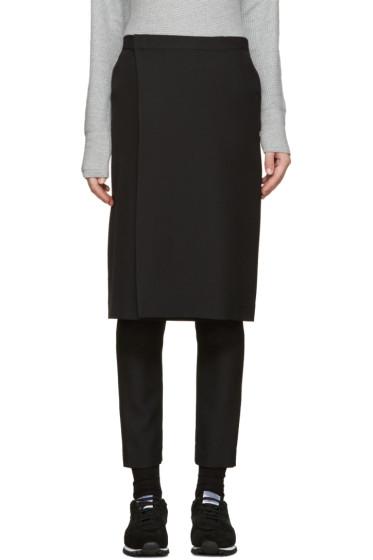 Hyke - Black Wool Layered Trousers