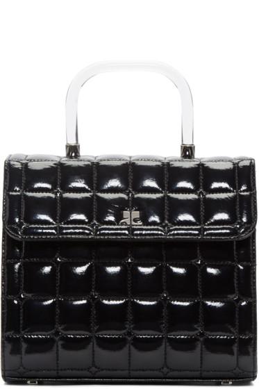 Courrèges - Black Quilted Vinyl Box Bag