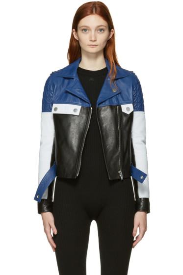 Courrèges - Tricolor Leather Colorblocked Jacket