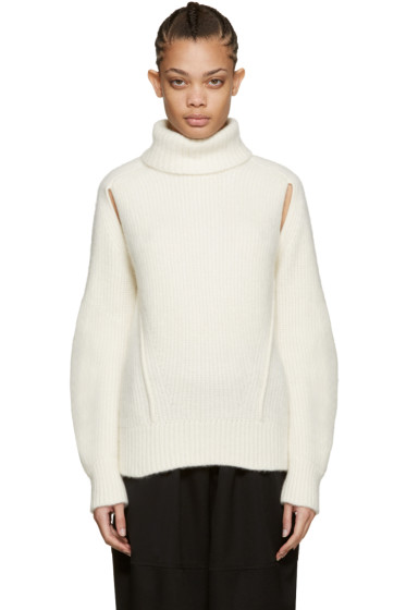Cyclas - Ivory Cut-Out Turtleneck