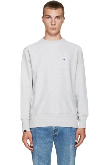 Champion x Beams - Grey Reverse Weave Sweatshirt