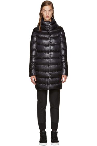 Herno - Black Long Cocoon Jacket