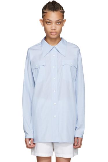 Miu Miu - Blue Poplin Fantasia Shirt
