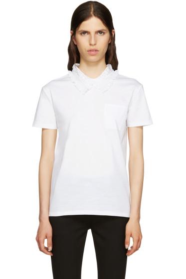 Miu Miu - White Lace Collar T-Shirt