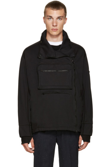 Stone Island Shadow Project - Black Pocket Zip-Up Sweater