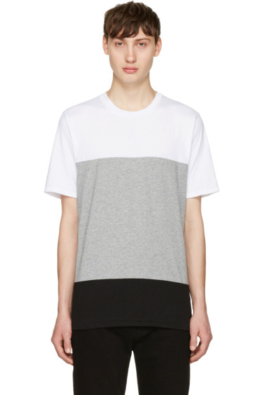 Rag & Bone - White & Grey Precision T-Shirt