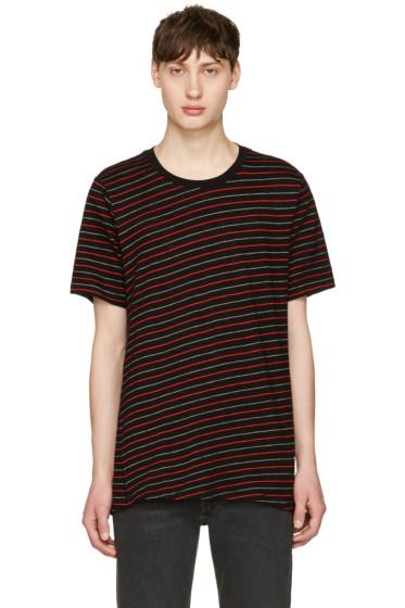 Rag & Bone - Black & Red Stripe T-Shirt