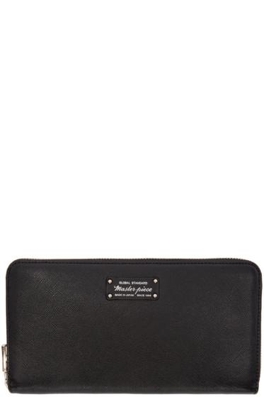 Master-Piece Co - Black Continental Wallet