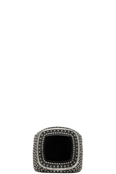 Emanuele Bicocchi - Silver Square Stone Ring