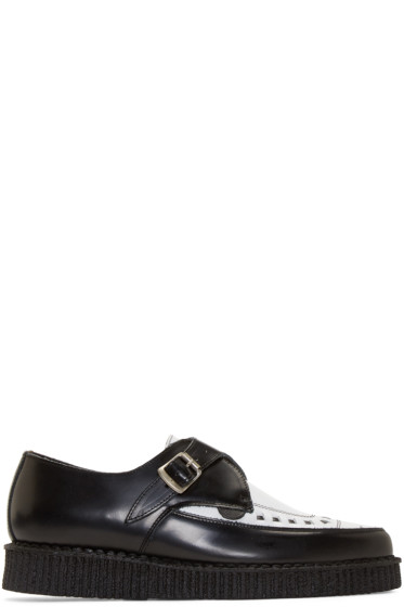 Underground - Black & White Leather Barfly Creepers