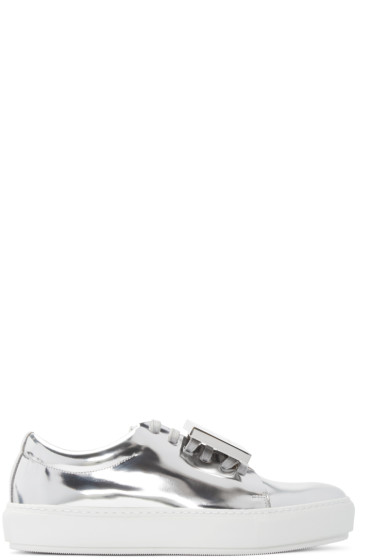 Acne Studios - Silver Metallic Leather Adriana Sneakers