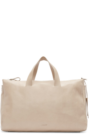 Marsèll - Taupe Leather Monouso Duffle Bag