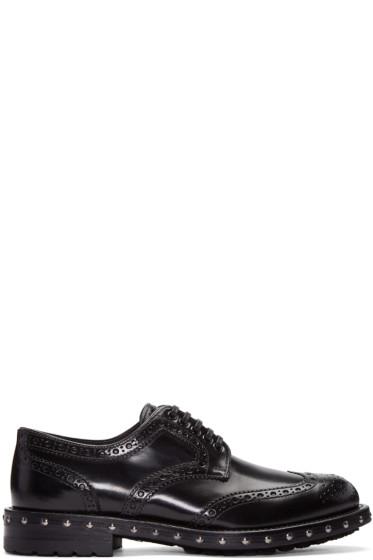 Dolce & Gabbana - Black Studded Derbys