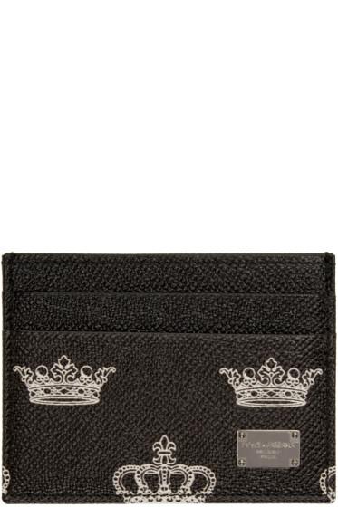 Dolce & Gabbana - Black Leather Crown Card Holder