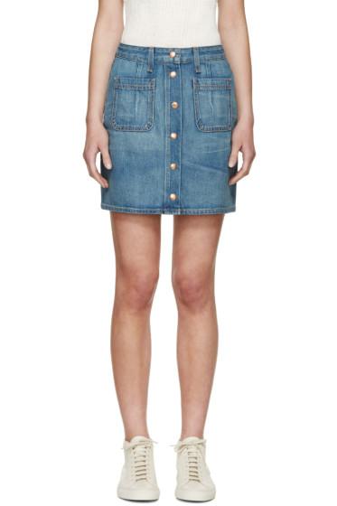 Rag & Bone - Blue Denim Santa Cruz Skirt