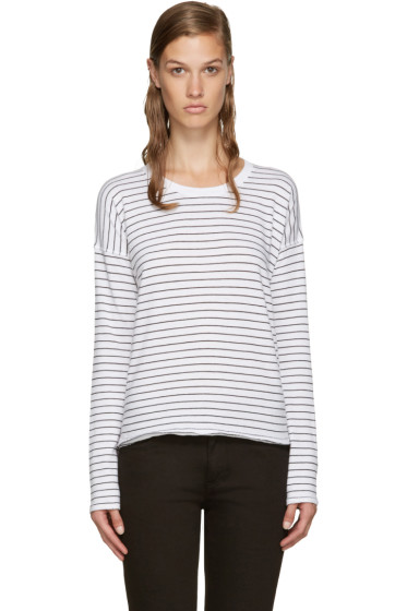 Rag & Bone - White Vintage Stripe T-Shirt