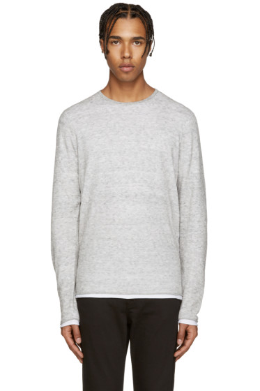 Rag & Bone - Grey Knit Trip Pullover