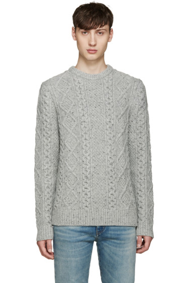 Levi's - Grey Cable Knit Fisherman Sweater