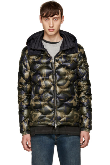 Moncler - Green Camo Down Morandieres Jacket