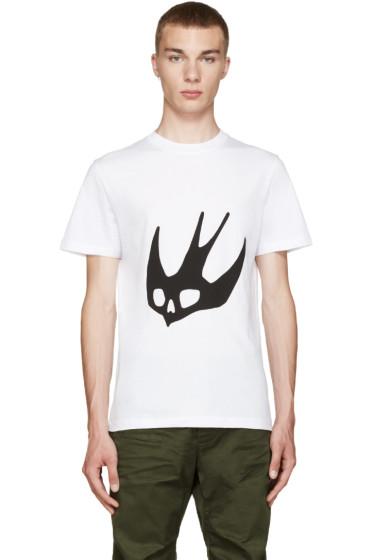 McQ Alexander Mcqueen - White Swallow T-Shirt