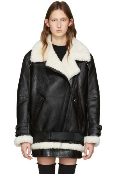 Acne Studios - Black Shearling Velocite Jacket