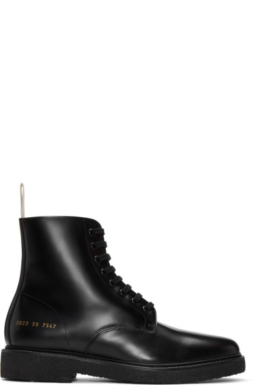 Common Projects - Black Standard Combat Boots