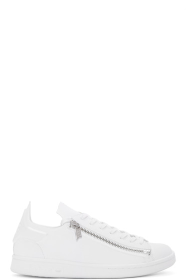 Y-3 - White Stan Zip Sneakers