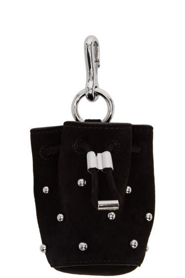 Alexander Wang - Black Suede Mini Roxy Keychain Pouch