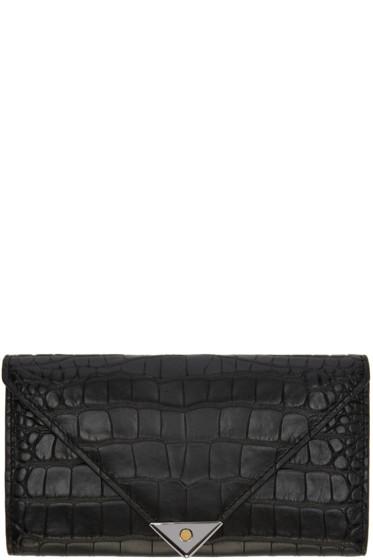 Alexander Wang - Black Croc-Embossed Prisma Wallet