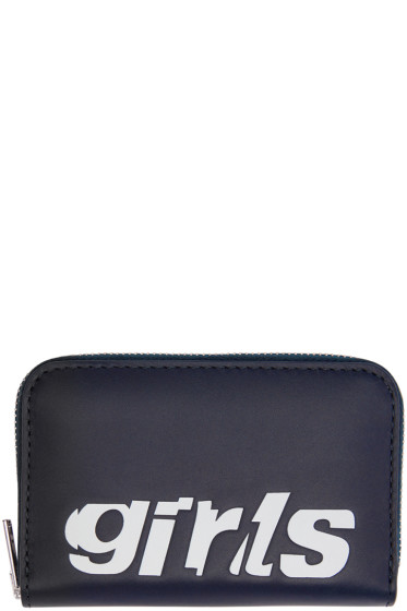 Alexander Wang - Navy Mini Compact 'Girls' Wallet