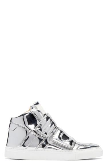 MM6 Maison Margiela - Silver Mirror High-Top Sneakers