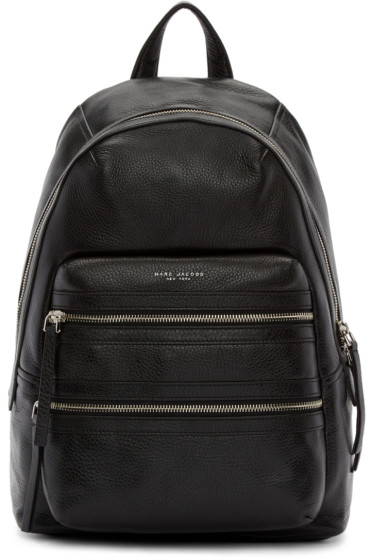 Marc Jacobs - Black Leather Biker Backpack