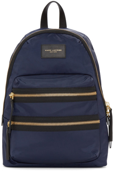 Marc Jacobs - Blue Nylon Biker Backpack